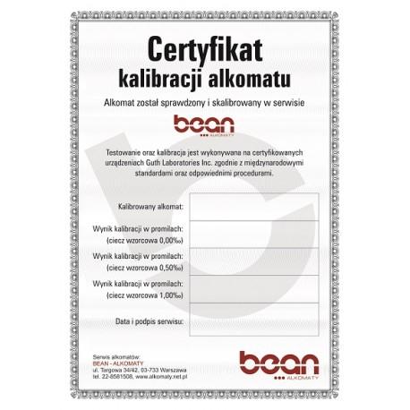 Certyfikat kalibracji